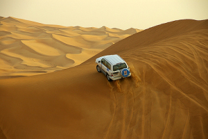 Desert Safari Surfing over the yellow sea